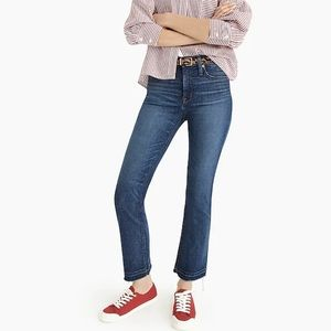 J. Crew Blue Billie Demi Crop Boot Jeans